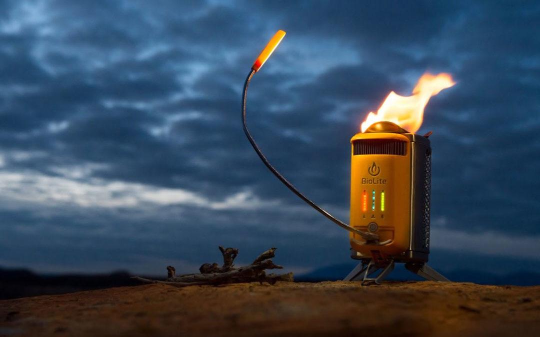 Biolite Campstove 2, ett vedeldningskök för camping som genererar ström!